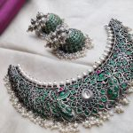 Handcrafted Silver Necklace Set From Rimli Boutique