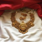 Matt Finish Lakshmi Gold Bunch Choker From Emblish Coimbatore