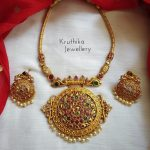 Matte Pipe Necklace Set From Kruthika Jewellery