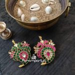 Peacock Paisely Pendants From Parampariya