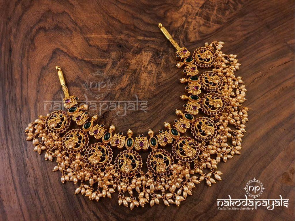 Pure Silver Guttapusalu Necklace From Nakodapayals