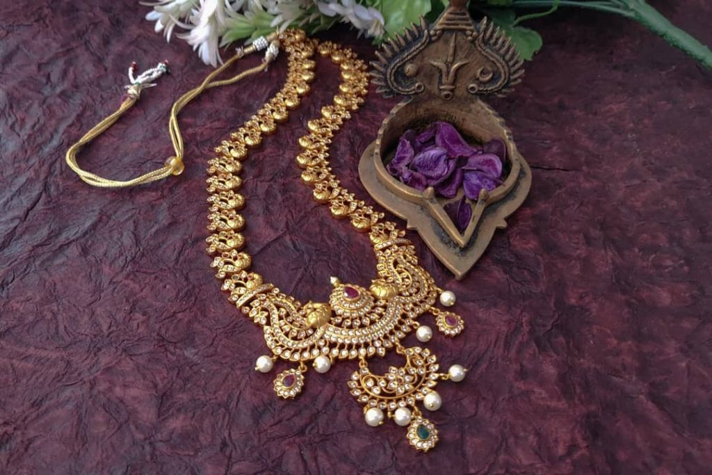 Semi Bridal Designer Necklace From Madhura Boutique