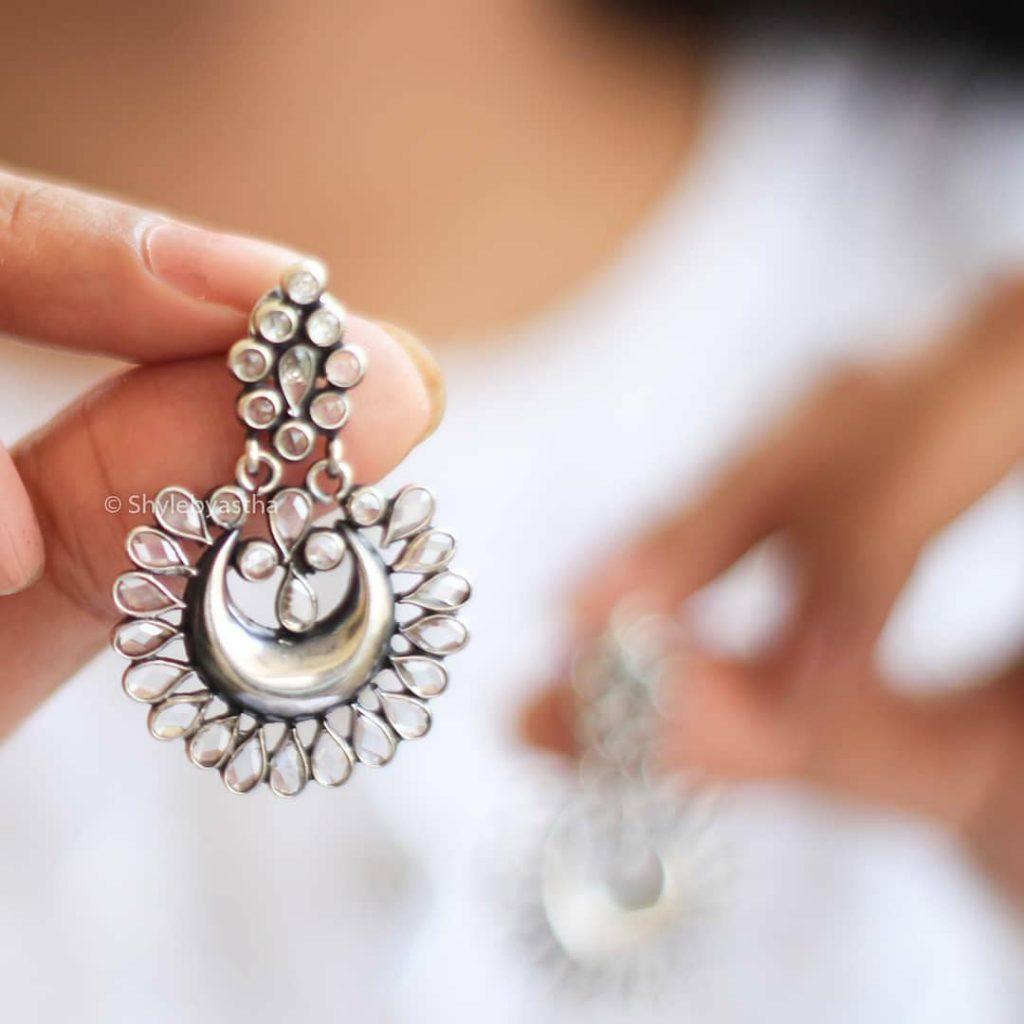 Stylish Silver Earrings From Shylebyasth