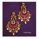 Stunning Kundan Earrings From Rajatamaya