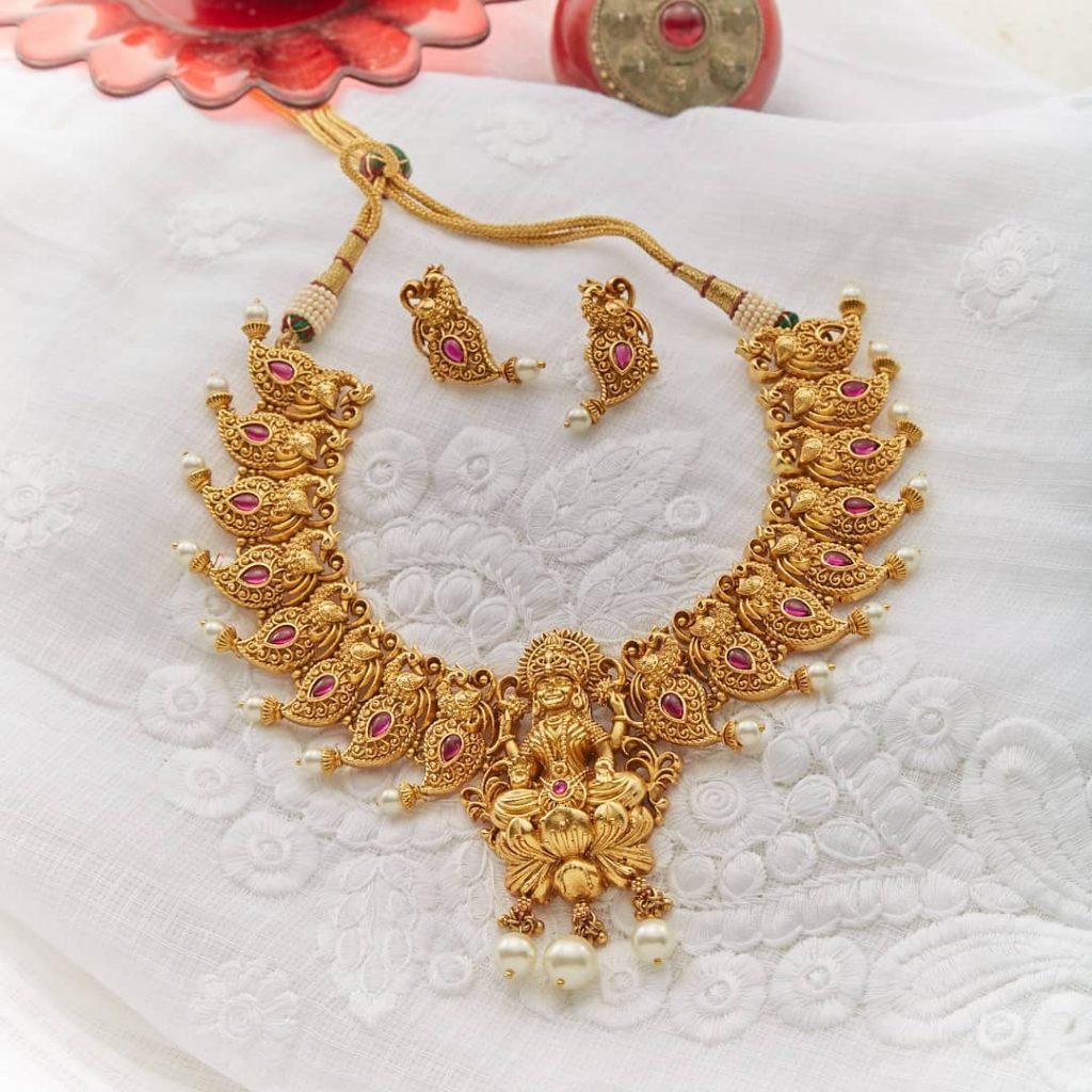 Stunning Necklace Set From Kushal's Fashion Jewellery