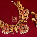 Stylish Silver Necklace Set From Shaburis