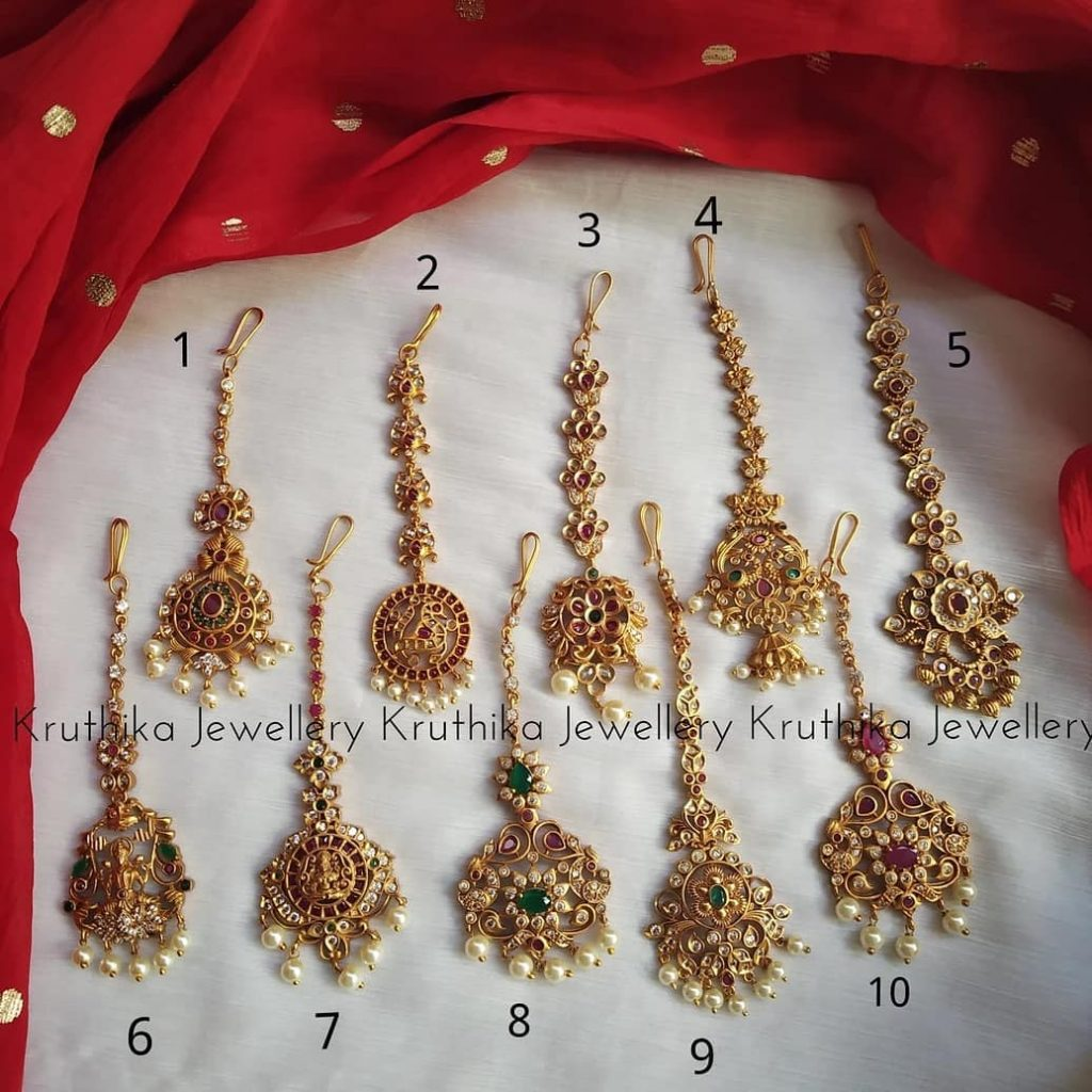 Traditional Tikka Collections From Kruthika Jewellery