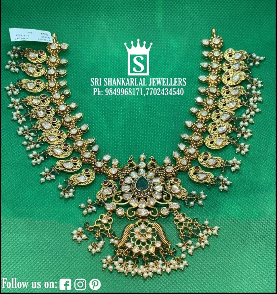 Adorable Gold Necklace From Sri Shankarlal Jewellers