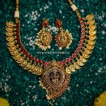 Adorable Temple Necklace Set From Narayan Pearls
