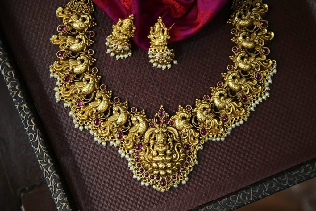 Adorable Temple Necklace Set From Rimli Boutique