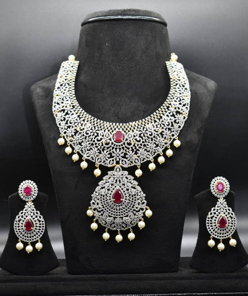 Amazing American Diamond Necklace Set From ASP Fashion Jewellery