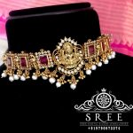 Attractive Silver Temple Choker From Sree Exotic Silver Jewelleries