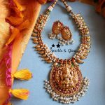 Elegant Mango Lakshmi Neckpiece From Sparkle And Glow