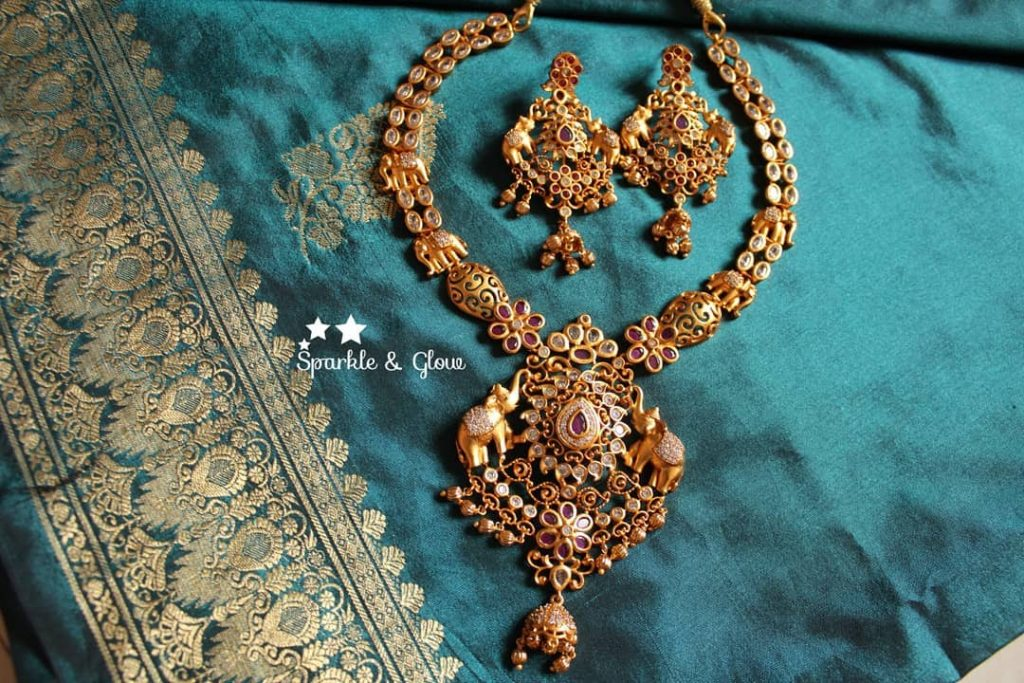 Elegant Necklace Set From Sparkle And Glow