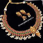Ethnic Necklace Set From Green Gem Jewels