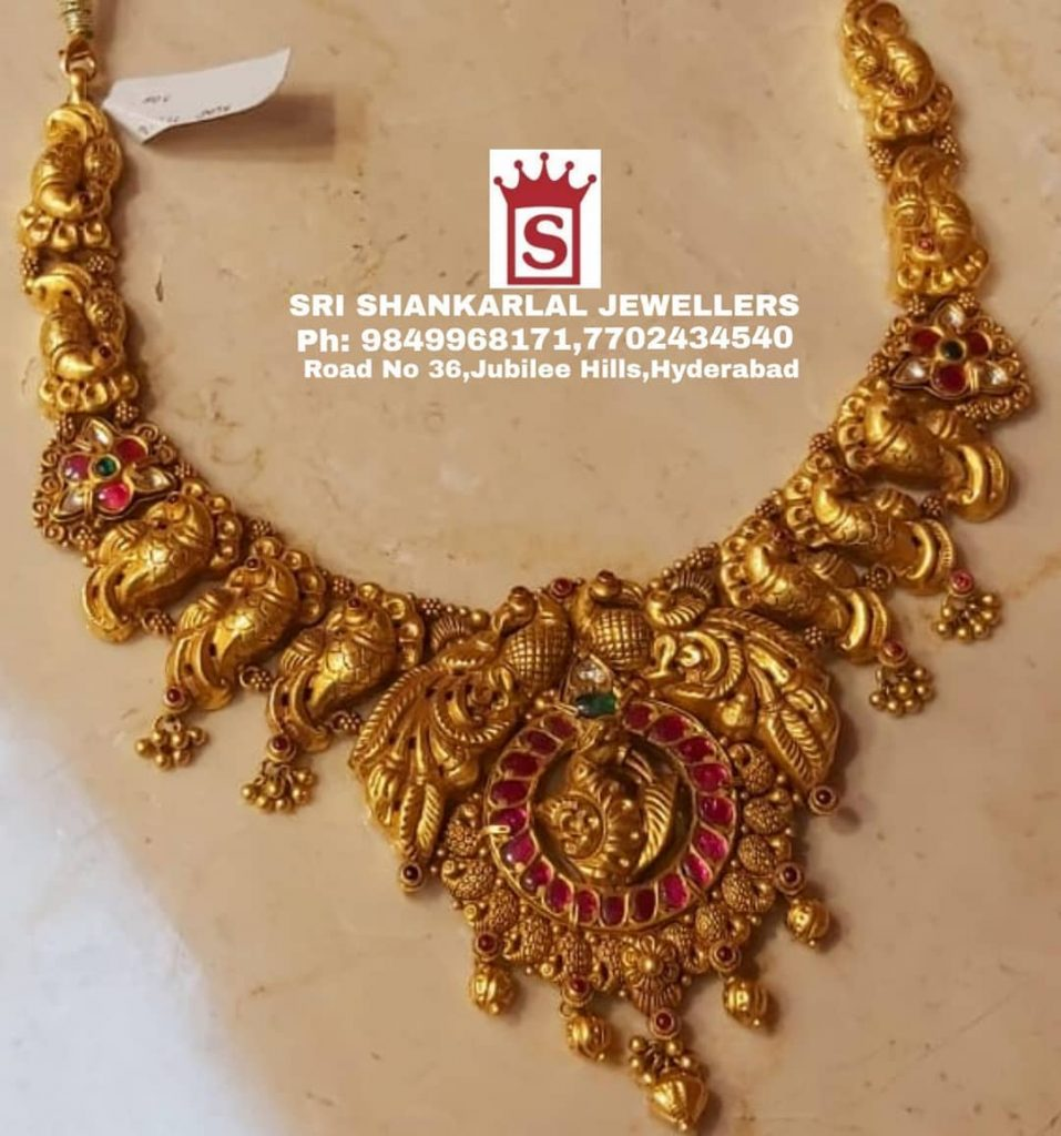 Exquisite Nakshi Necklace Set From Sri Shankarlal Jewellers
