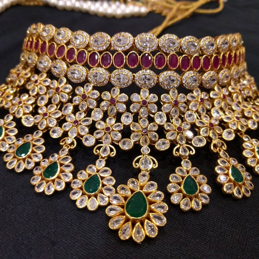 Grand Bridal Choker From Samskruthi Jewellers