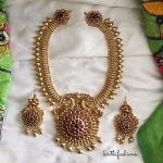 Matt Finish Peacock Necklace Set From Kirthi Fashions