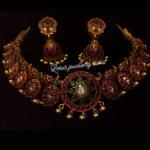 Pretty Kundan Silver Necklace Set From Lotus Silver Jewellery