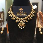 Traditional Gold Necklace Set From Sri Raja Rani