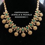 Cute Gold Necklace From Om Prakash Jewels
