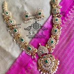 Decorative Silver Stone Necklace From Sree Exotic Silver Jewelleries