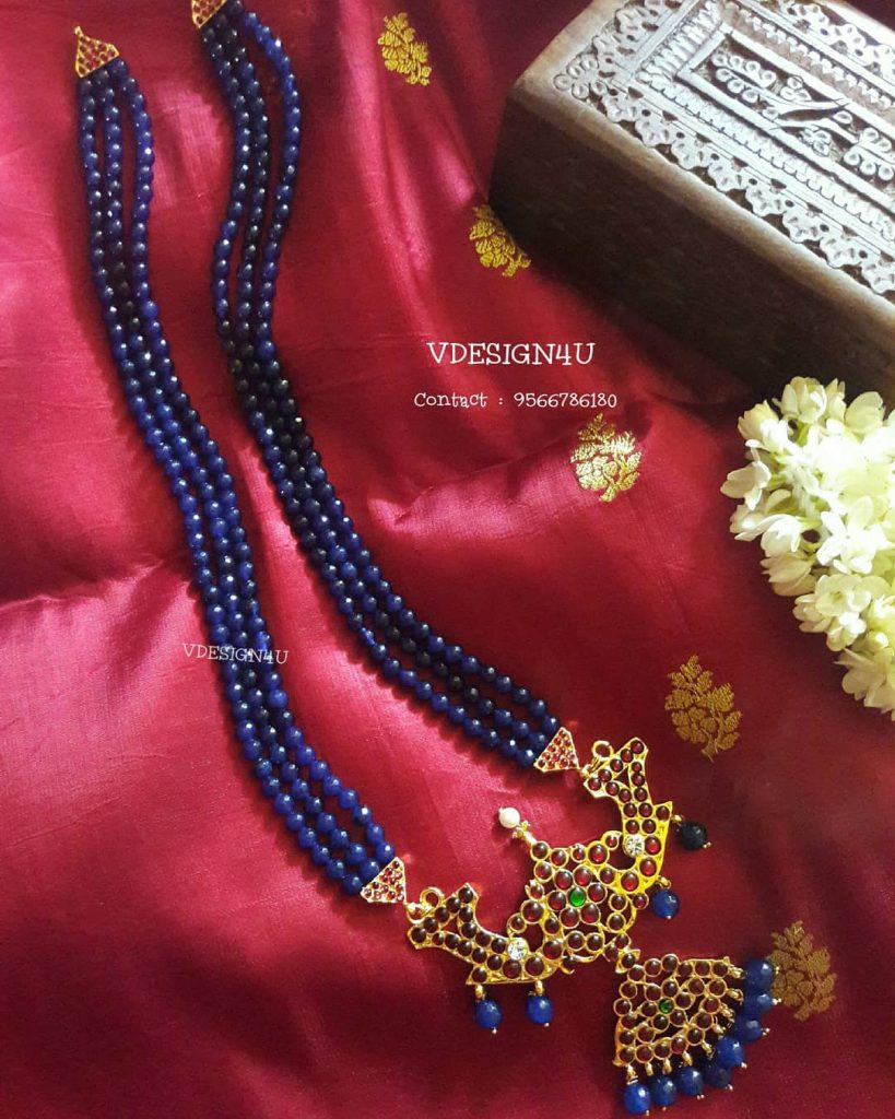 Designer Beaded Necklace From Vdesign4U