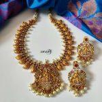 Elegant Lakshmi Necklace Set From Aaryaah Designs