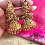 Eye Catching Silver Jhumkas From Sree Exotic Silver Jewelleries