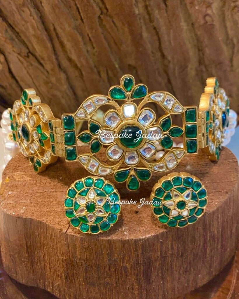 Fashionable Kundan Necklace Set From Be Spoke Jadau