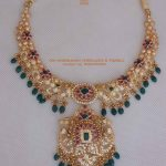 Gold Floral Design Necklace From Sri Mahalaxmi Jewellers And Pearls