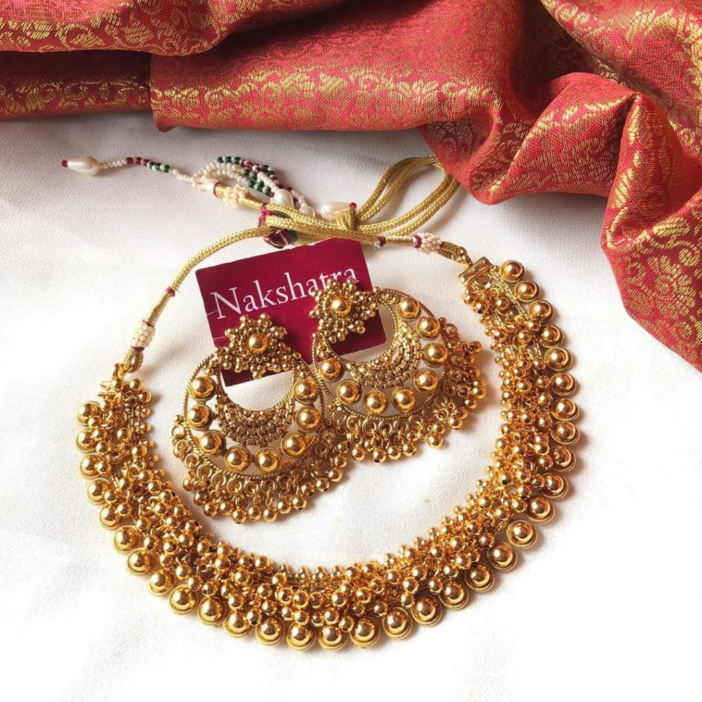 High Quality Antique Necklace From Nakshatra Chennai