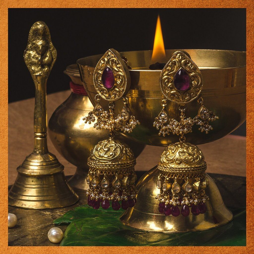 Royal Silver Jhumkas From Vamika Silver