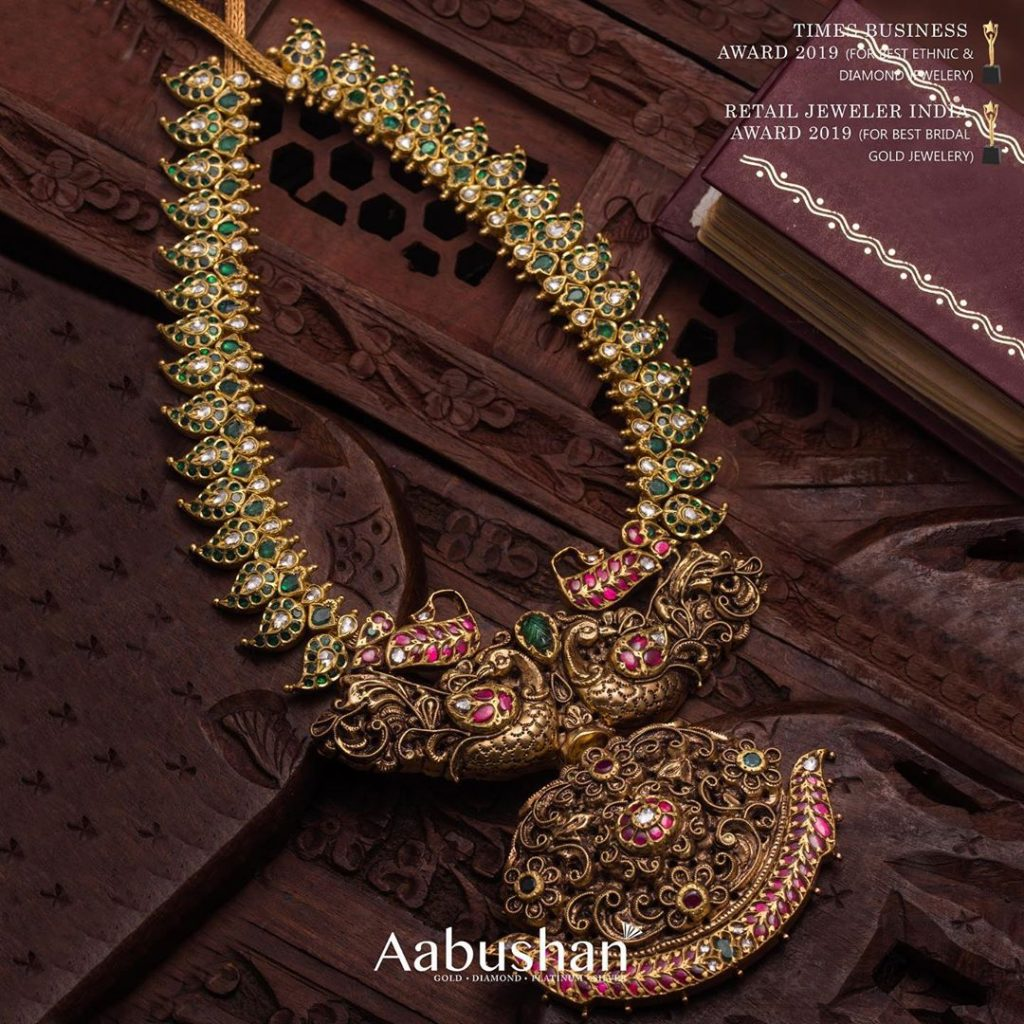 Traditional Mango Necklace From Aabushan Jewellery