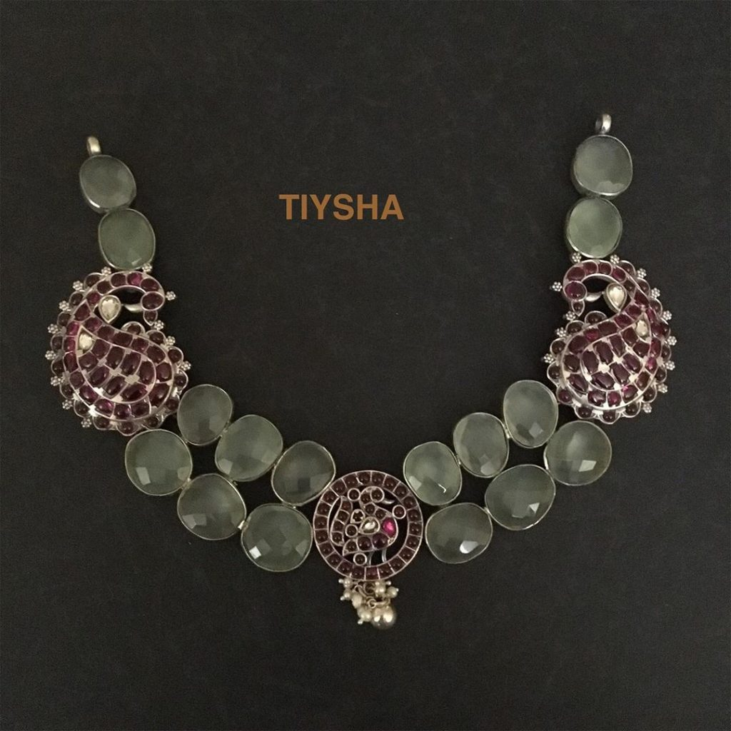 Trendy Silver Necklace From The Tiysha