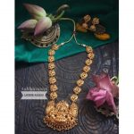 Charming Temple Necklace Set From Aabharanam