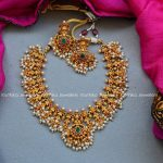 Cute Necklace Set From Kruthika Jewellery