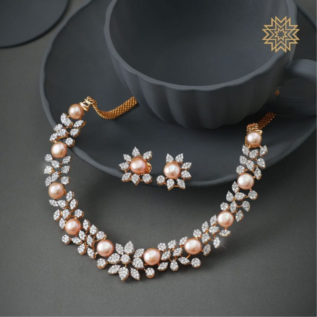 Gorgeous Diamond Necklace From Manubhai Jewels