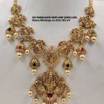 Traditional Gold Necklace From Sri Mahalakshmi Gems And Jewellers