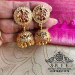 Cute Silver Jhumkas From Sree Exotic Silver Jewelleries