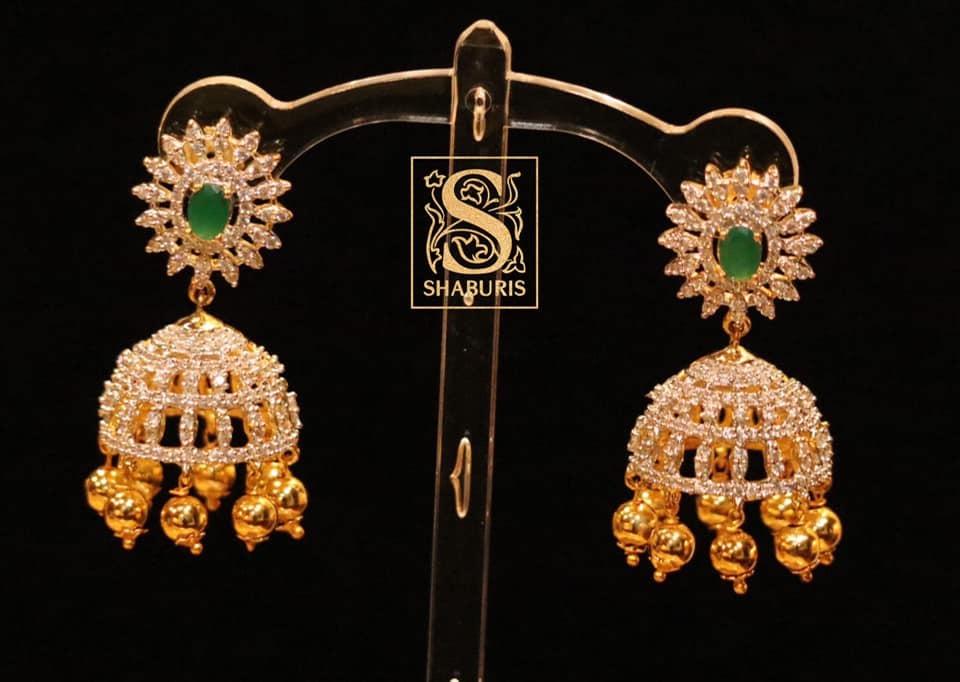 Ethnic Silver Jhumkas From Shaburis