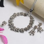 Beautiful Handmade Silver Necklace Set From Aadyaa Originals