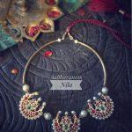 Cute Nila Choker From Aabharanam