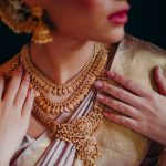 Grand Gold Plated Bridal Necklace From AKN Jewellery