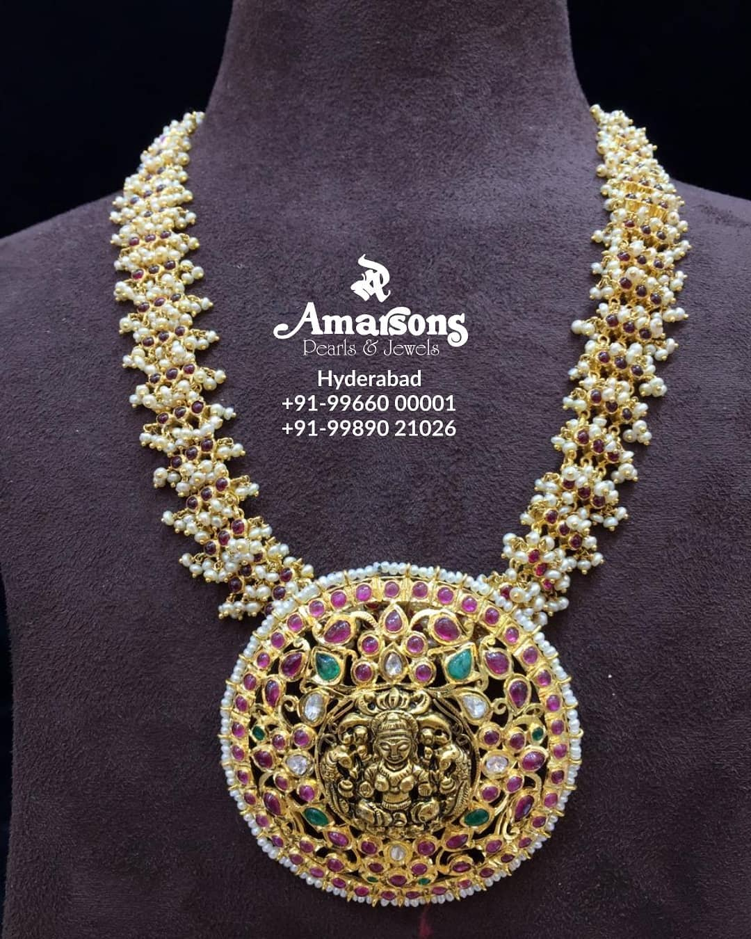 Classy Gold Temple Necklace From Amarsons Pearls and Jewels
