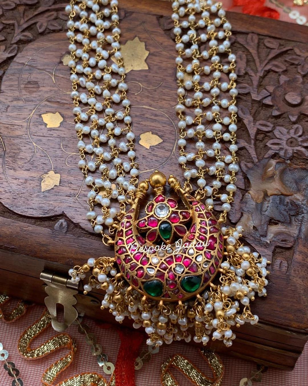 Adorable Kundan Long Necklace From Bespoke Jadau