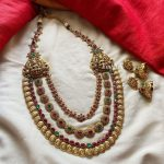 Pretty Layered Necklace Set From Emblish Coimbatore