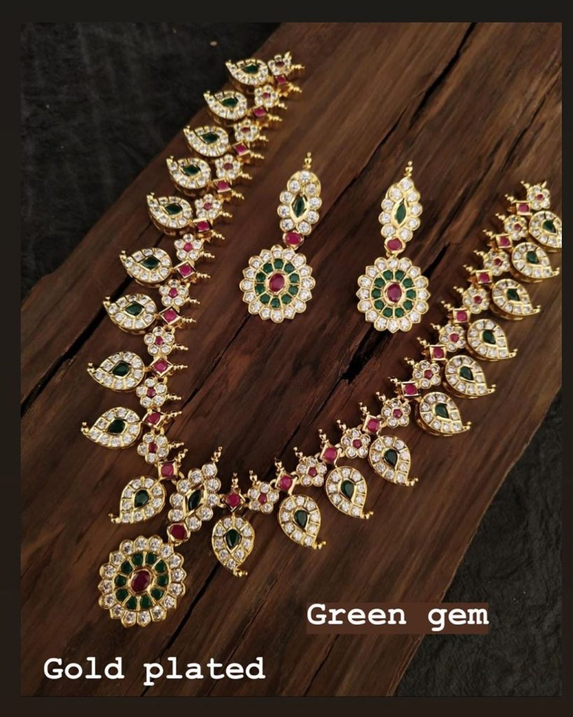 Classic Gold Plated Necklace Set From Green Gem Jewels