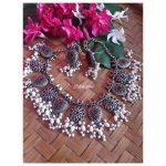Elegant Silver Necklace Set From Izhaiyini