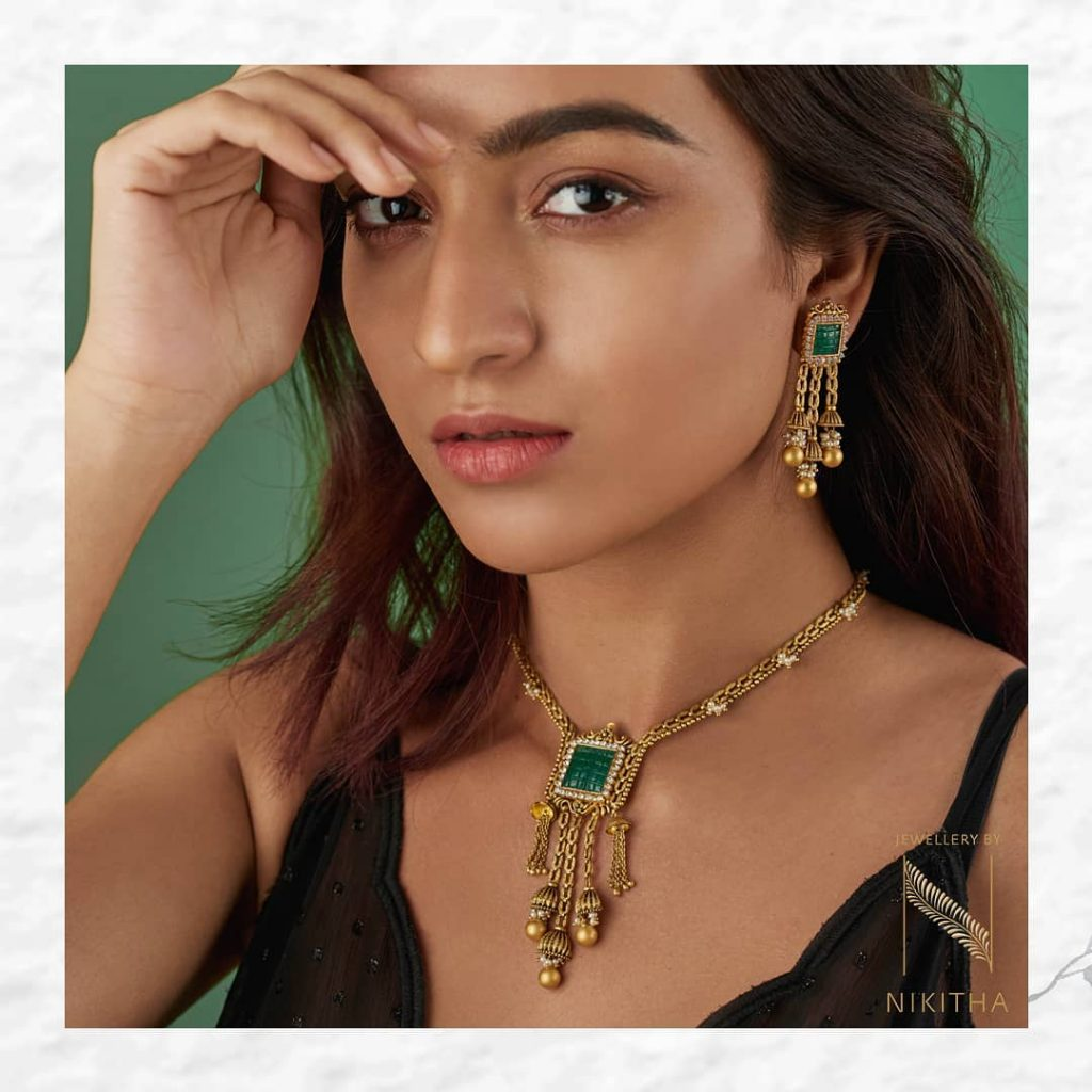 Delightful Necklace Set From Nikitha
